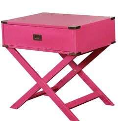 Antonina End Table with Storage Color: Pink