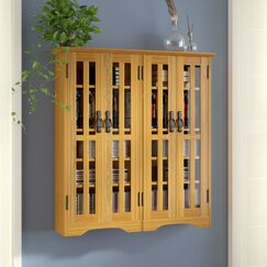 Jones Multimedia Wall Cabinet Color: Oak
