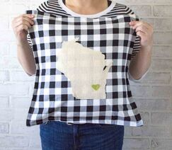 Duvall Love My State Pillow Cover State: Alabama