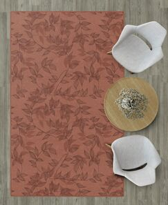 Roxana Floral Red Area Rug Rug Size: Rectangle 7'6