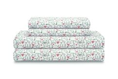 Politte Hearts and Hounds Sheet Set Color: Pink, Size: California King