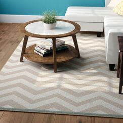 Breana Ivory/Taupe Indoor/Outdoor Area Rug Rug Size: Rectangle 5'3