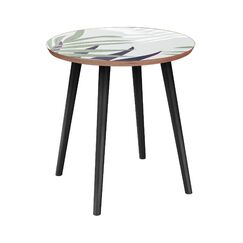 Isabeau End Table Table Base Color: Black, Table Top Color: Walnut