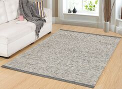Hawtree Hand-Woven Gray/Gold Area Rug Rug Size: Rectangle 2' x 4'