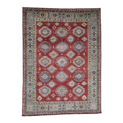One-of-a-Kind Espada Super Tribal Oriental Hand-Knotted Red Area Rug