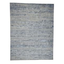 One-of-a-Kind Catharina Oriental Hand-Knotted Silk Teal Area Rug