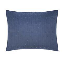 Essential Dash Organic Sham Color: Blue, Size: King