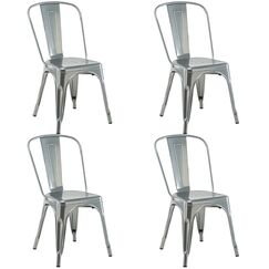 Nakamura Dining Chair Color: Silver