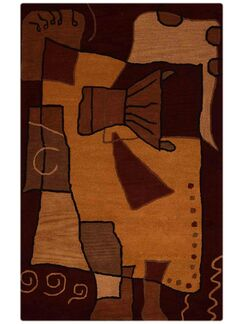 Embree Hand-Tufted Wool Brown/Orange Area Rug Rug Size: Rectangle 8' x 10'