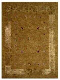 St Catherine Hand-Knotted Wool Gold Area Rug