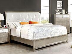 Michaela Sleigh Bed Size: Queen, Color: Silver