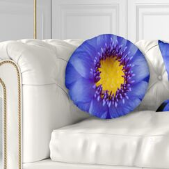 Flowerswork Lotus Close up Watercolor Throw Pillow Size: 16
