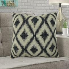 Mcmann Diamond Pattern Pillow Fill Material: 95/5 Feather/Down, Size: 16