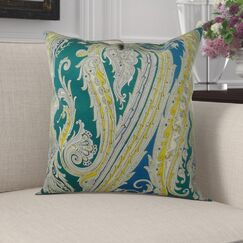Edmiston Paisley Luxury Pillow Fill Material: Cover Only - No Insert, Size: 26