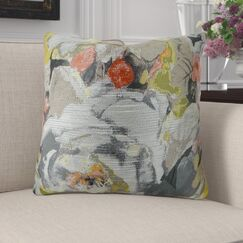 Edmonds Floral Greige Luxury Pillow Fill Material: 95/5 Feather/Down, Size: 20