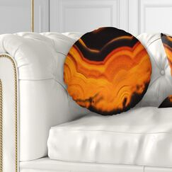 Abstract Agate Macro Throw Pillow Size: 20