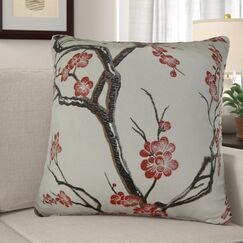 Krauthamer Cherry Blossom Luxury Pillow Fill Material: Cover Only - No Insert, Size: 20