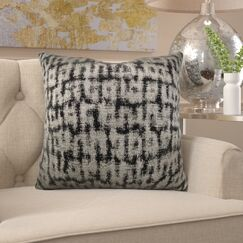 Frederick Luxury Metallic Pillow Fill Material: Cover Only - No Insert, Size: 24
