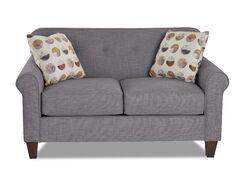 Crown Loveseat Upholstery: Dark Gray