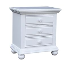 Kailyn 3 Drawer Nightstand Color: White