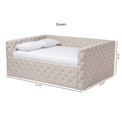 Angelica Daybed Color: Light Beige, Size: Queen, Accessories: Trundle Included