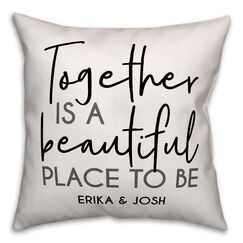Rolph Together Is a Beautiful Place to Be Personalized Outdoor Throw Pillow