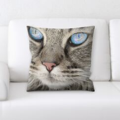 Lassiter Cat Portrait Throw Pillow