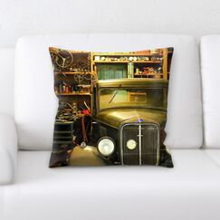 Edgewood in a Work Shop Throw Pillow