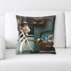 Marilyn Bikes (1) Throw Pillow