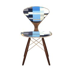 Aisling Upholstered Dining Chair Frame Color: Walnut