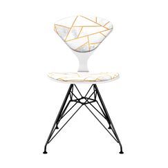 Lonan Upholstered Dining Chair Leg Color: Black, Frame Color: White