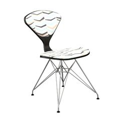 Marceline Upholstered Dining Chair Leg Color: Chrome, Frame Color: Black