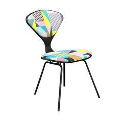 Elara Upholstered Dining Chair Leg Color: Black, Frame Color: Black