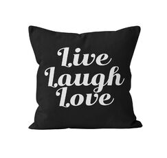Harley Live Laugh Love Throw Pillow Size: 20