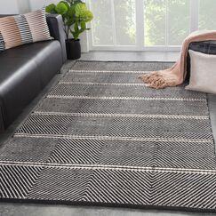 Keswick Geometric Hand-Woven Gray Area Rug Rug Size: Rectangle5' x 8'