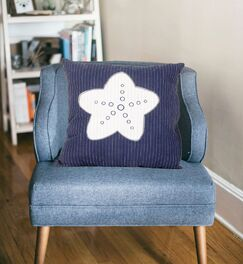 Achilles Star Linen Throw Pillow Color: Blue