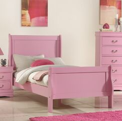 Hallatrow Sleigh Bed Size: Full, Color: Pink