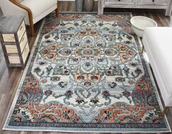Kauffman Brown/Blue Area Rug Rug Size: Rectangle 9' x 12'