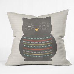 Allyson Johnson Native Owl Indoor/Outdoor Throw Pillow Size: 16