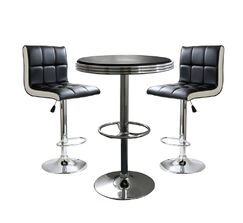 Regeani Contemporary 3 Piece Adjustable Pub Table Set