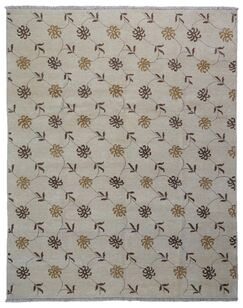 One-of-a-Kind Wallace Way Hand-Knotted Wool Beige Area Rug