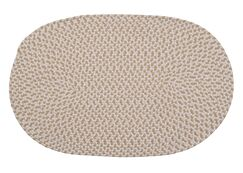 Madilyn Hand-Braided Natural Area Rug Rug Size: Oval 5' x 8'
