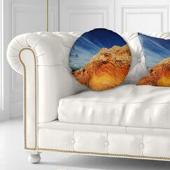 Landscape Coyote Buttes of Vermillion Cliffs Throw Pillow Size: 16