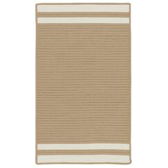 Kellie Stripe Hand-Braided Brown/Ivory Indoor/Outdoor Area Rug Rug Size: Rectangle 5' x 7'
