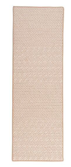 Duane Hand-Braided Beige Indoor/Outdoor Area Rug Rug Size: Runner 2'6
