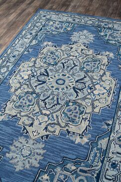 Lancaster Hand-Tufted Wool Denim Area Rug Rug Size: Rectangle 2' x 3'