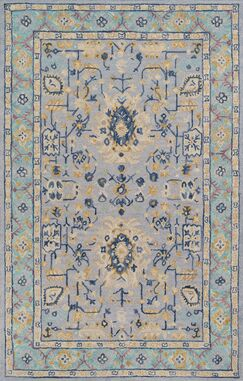 Pearl Hand-Tufted Wool Blue Area Rug Rug Size: Rectangle 2' x 3'