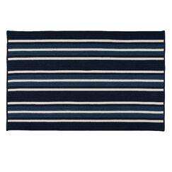 Madalynn Stripe Pier Hand-Braided Navy Indoor/Outdoor Area Rug Rug Size: Rectangle 10' x 13'