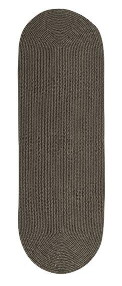 Wellbrock Reversible Hand-Braided Gray Indoor/Outdoor Area Rug Rug Size: Runner 2'4