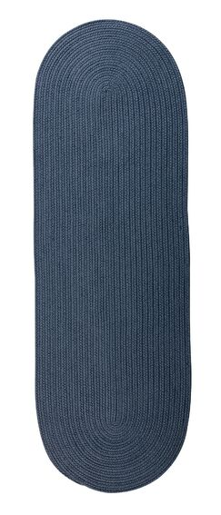 Wilberforce Reversible Hand-Braided Blue Indoor/Outdoor Area Rug Rug Size: Runner 2'4